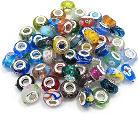 YIQIFLY 40pcs Jewelry Making Charms Rhinesotone Beads Assorted Colors and Styles Randomly 04