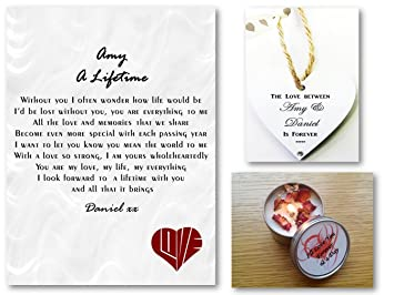 personalised love letter romantic poem gift set a lifetime husband wife boyfriend