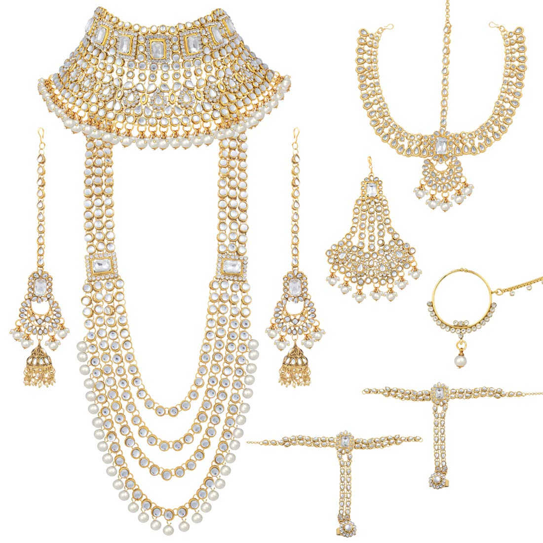 Peora Ethnic Indian Traditional Kundan Dulhan Bridal