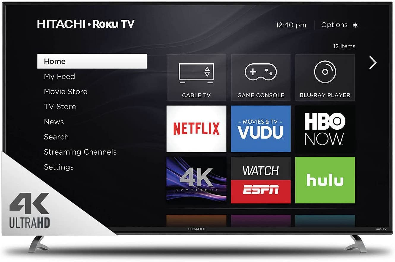 Hitachi 65R8 TV 4K Ultra HD Roku Smart LED de 65 Pulgadas: Amazon.es: Electrónica