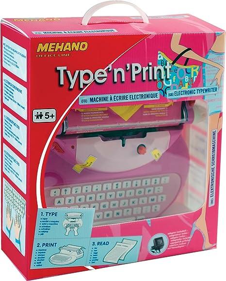 Mehano e118 a electrónica Máquina de Escribir, Color Rosa