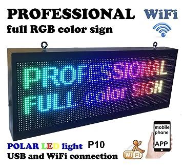 Amazon.com: Cartel profesional para exteriores WiFi P10 de ...