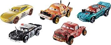 Disney Cars Thunder Hollow Pack de 5 vehículos, coches de juguete