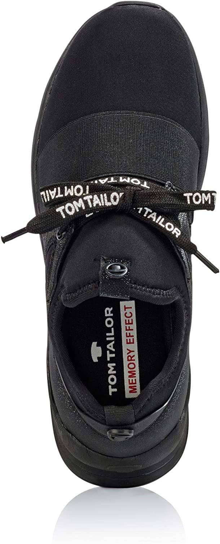 TOM TAILOR Damen 5891705 Sneaker, Schwarz (Black 00001), 40