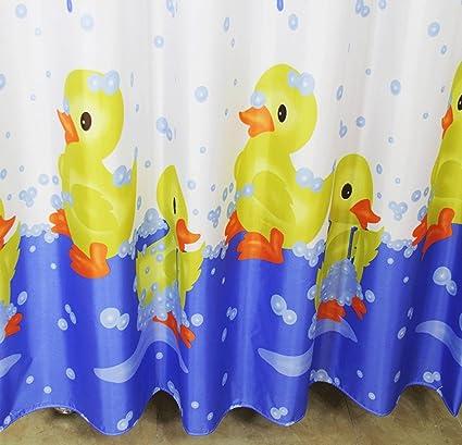 DGF Polyester Shower Curtain Creative Bathroom Waterproof Small Yellow Duck Multi Size Optional