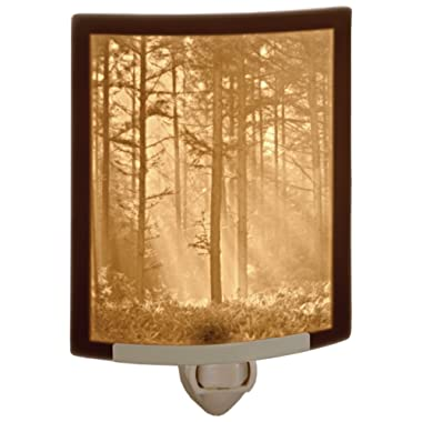 Woodland Sunbeams- Fine Porcelain Lithophane Curved Night Light