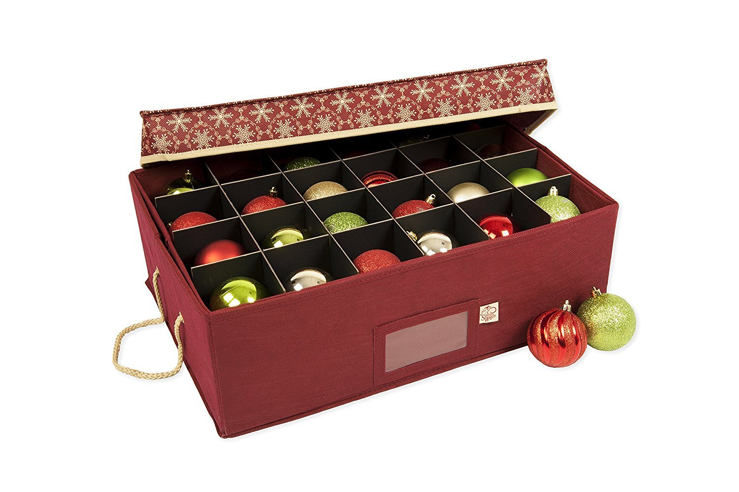Santas Bags Decorated Two Tray Ornament Storage Box TreeKeeper