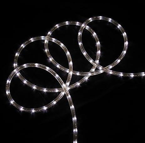 christmas rope lighting. 18\u0027 Pure White LED Indoor/Outdoor Christmas Rope Lights Lighting S