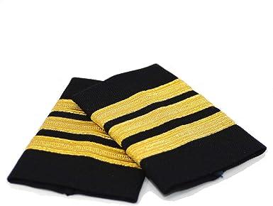 Aero Phoenix Professional Pilot Uniform Epaulets Three Bars First Officer