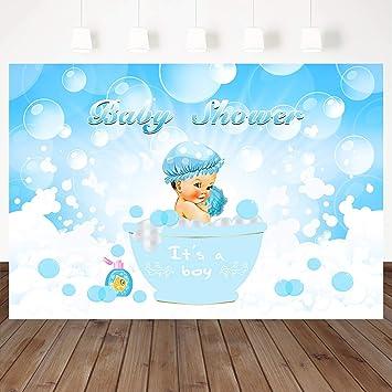 Bathing Elephant Baby Shower Banner Personalized Decoration Backdrop