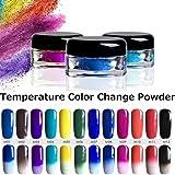 1g 12 Colors Thermochromic Pigment Thermal Color Change Temperature Powder Dust Decoration Gradient Nail Art Manicure