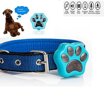 Collar Funwill impermeable rastreador de mascota con GPS, wifi, flash LED. Collar anti-pérdida con alarma de seguridad para perro o gato.