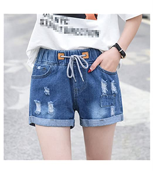 4ad6ca51f8e Rick Rogers Ripped Hole Denim Shorts Women Casual Sexy Pocket Mini Jeans  Shorts Plus Size Gril