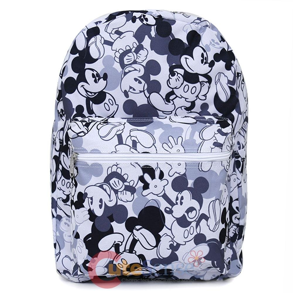 Disney Mickey Mouse Large School Backpack All Over Prints Bag -Mono color Ruz