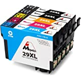Mipelo Compatible Epson 29XL Grande Capacità Cartouches d'encre, Utilisé dans Epson Expression Home XP-235 XP-435 XP-335 XP-245 XP-247 XP-332 XP-345 XP-345 XP-432 XP-442 XP-445 Imprimante (2 Noir, 1 Cyan, 1 Magenta, 1 Jaune)