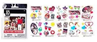 One Direction Tattoos Pack of 50 (Styles Vary/One Supplied)