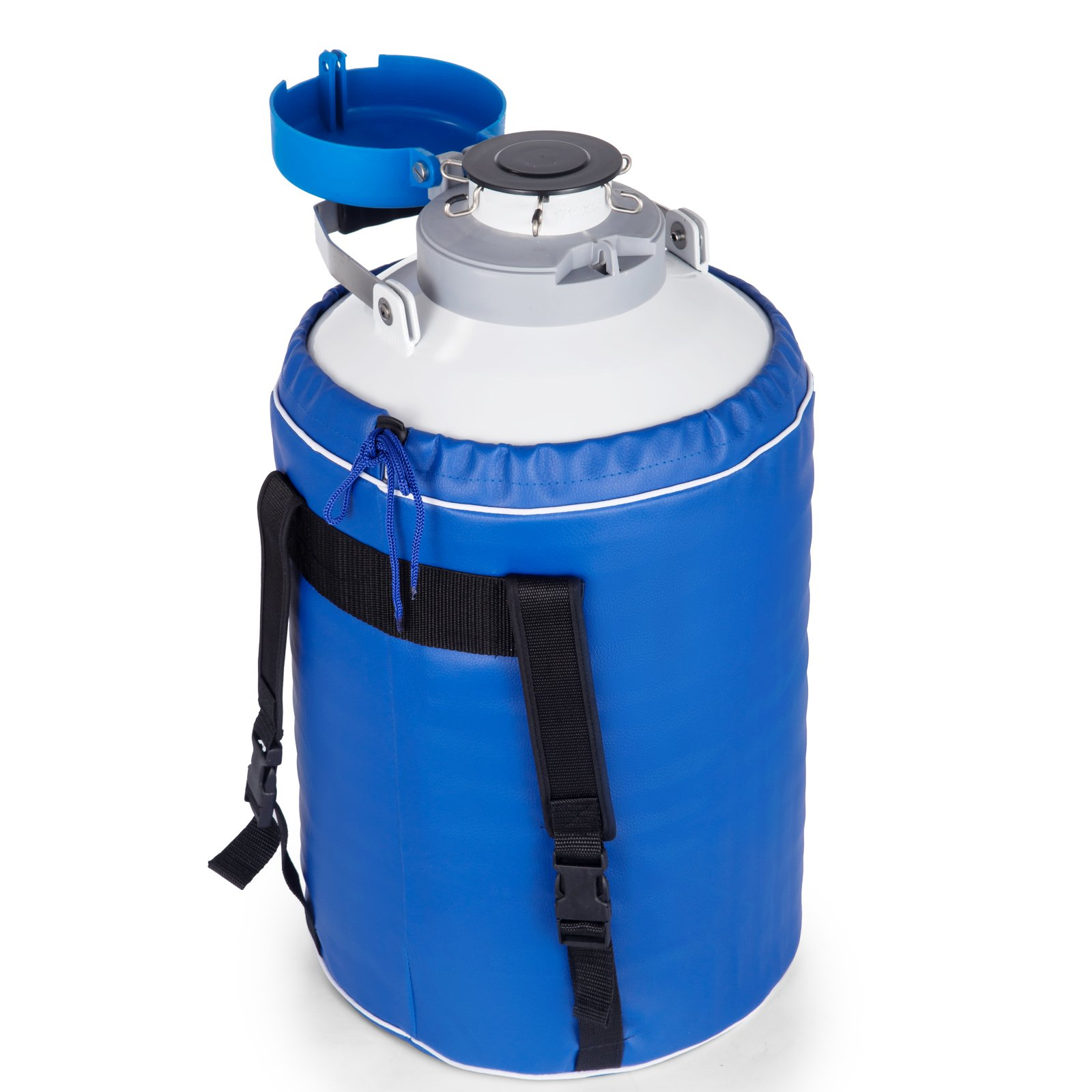 BestEquip Liquid Nitrogen Container 6L Liquid Nitrogen Storage Tank Static Cryogenic Container with 6 Canisters