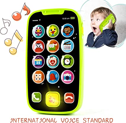 Kids Toddler Musical Mobile Phone Play Game Toy Sounds Music Fake Cellphone