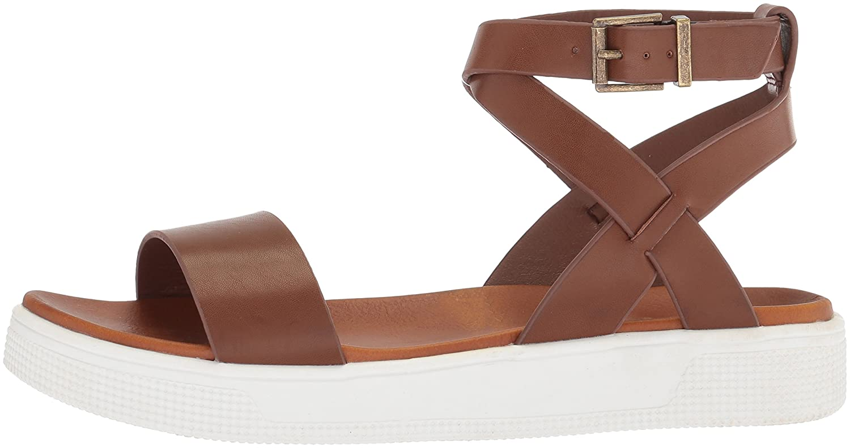 MIA Amore Women's Calla Flat Sandal B077Y3FY95 7.5 B(M) US|Cognac