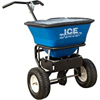 Buyers Products IB101G Professional 100 lb Capacity Walk Behind Broadcast Salt Spreader, Blue