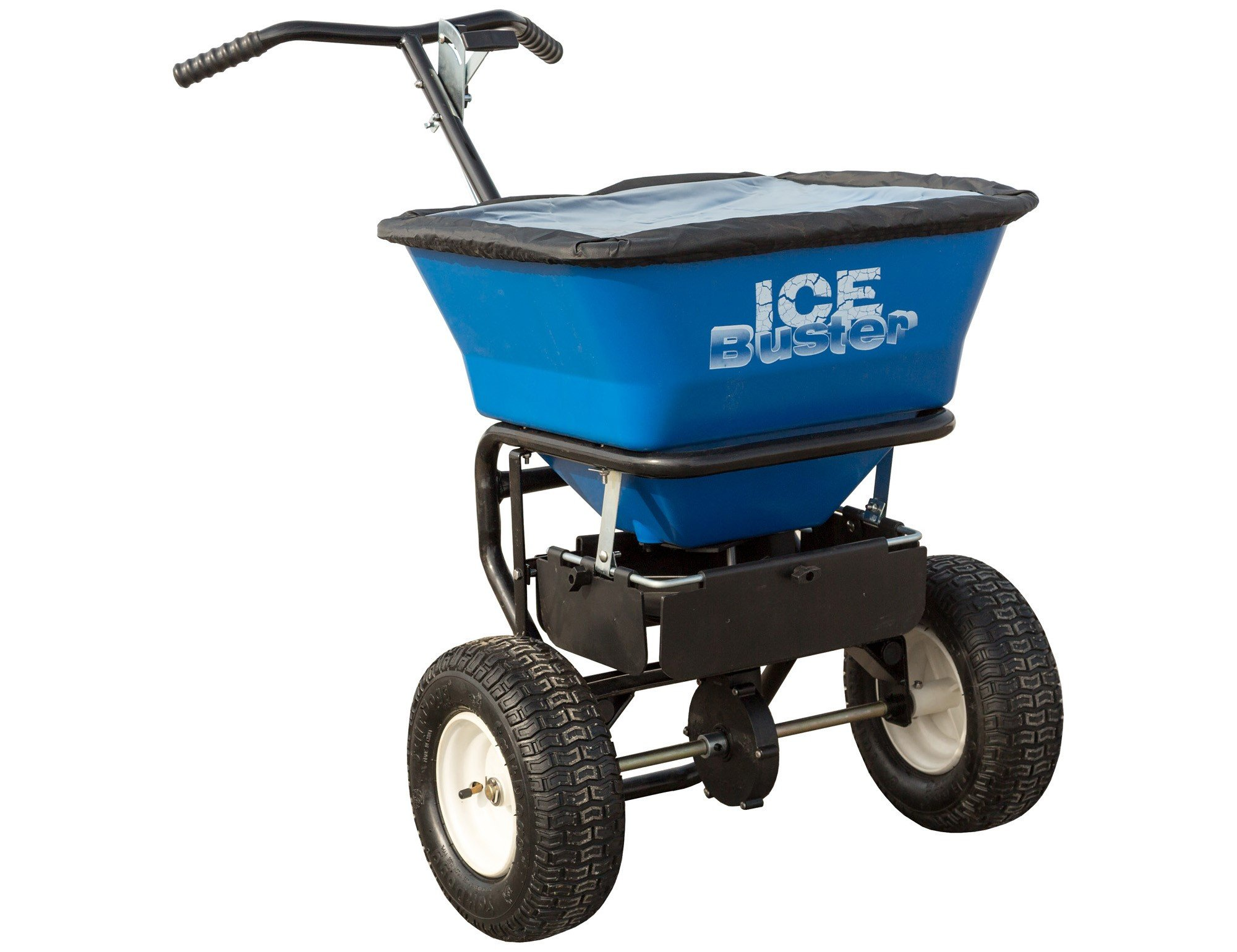 Buyers Products IB101G Professional 100 lb Capacity Walk Behind Broadcast Salt Spreader, Blue