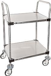 3 Shelf 36.63 X 40.25 X 27.69-Inch InterMetro Industries MY2636-35BL Mycart Series Black Polymer Utility Cart