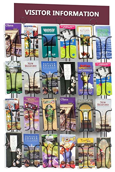 displays2go wall mounted brochure rack 24 pocket 4quot x 9quot pamphlet nice wall hanging office organizer 4