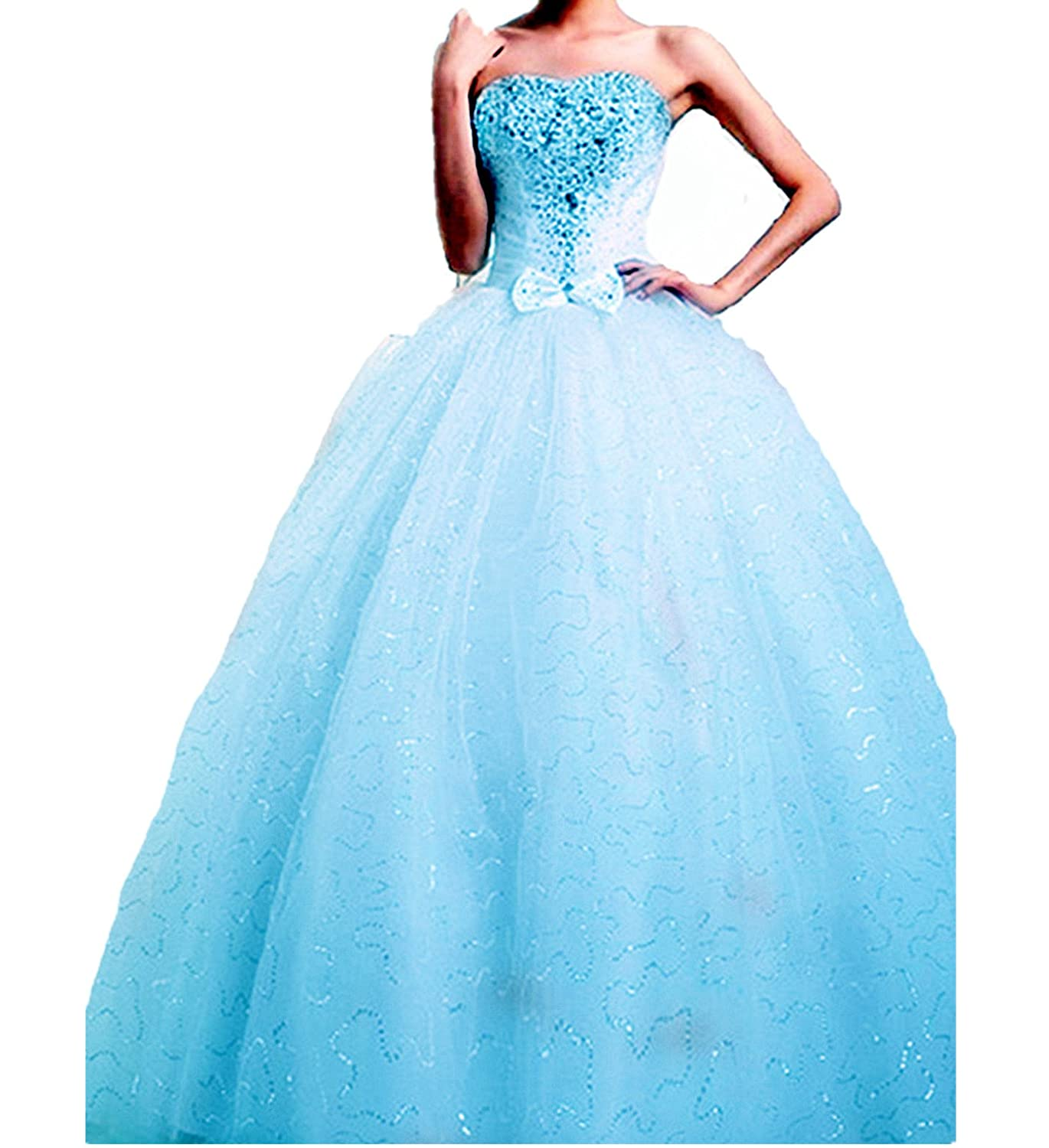 atopdress W09 BALL EVENING prom sequined gown evening dress size 8 ...