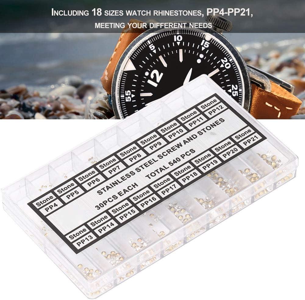Accessoire de r/éparation de pi/èces Pratiques pour horlogers Brrnoo Montre en Strass Acrylique pour d/écoration de Montres Utilis/é pour la d/écoration de Votre Montre