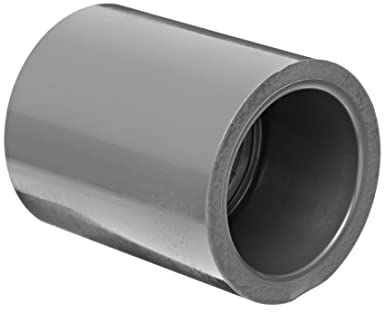 Spears 829 Series PVC Pipe Fitting, Coupling, Schedule 80, 1