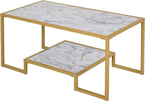 HOMCOM Minimalist Art Deco Coffee Table