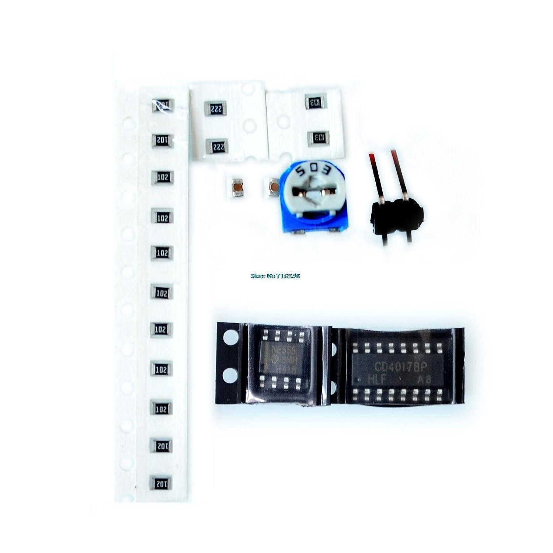 50pcs//lot NE555+CD4017 Light Water Flowing Light LED Module DIY Kit