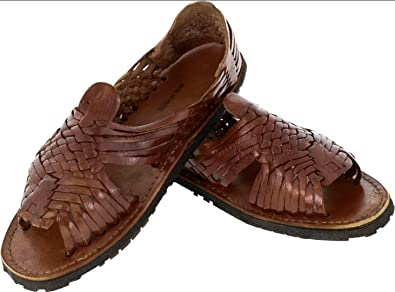 77e2ec266b72 Men s Pachuco Cognac All Real Leather Mexican Huaraches Open Toe 8