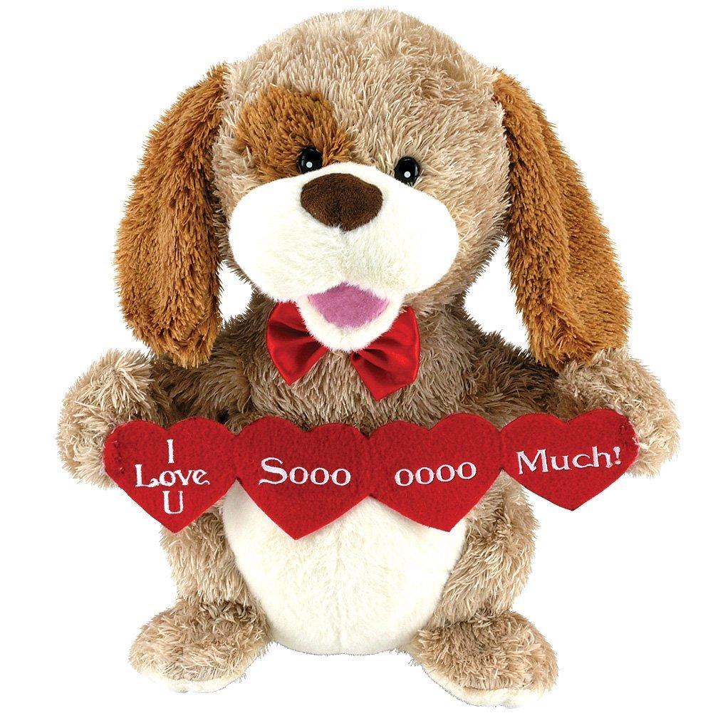 amazon com animated puppy love plush dog stuffed animal sings