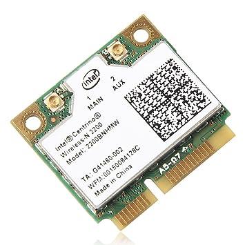 Intel Centrino Wireless-N 2200 2200BNHMW 802.11b/g/n, 300 Mbps 2x2, Single-band Wi-Fi Card