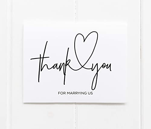 Thank You For Marrying Us Wedding Day Card For Marriage Officiant Gift From Bride And Groom