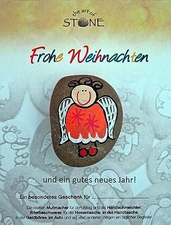 Schutzengel Weihnachten Stein in Handarbeit bemalt von Künstlern ...