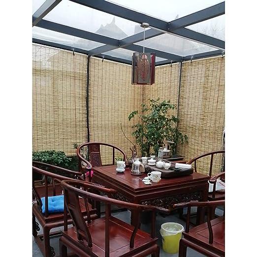 Glopo Tapparella in Bamboo-Tenda Bamboo-Tapparella in Canna-Tapparella Avvolgibile Bambù Naturale,Isolamento Termico, Eco-Friendly, Smooth No Burrs,135x225cm/53x88.5in: Amazon.es: Hogar