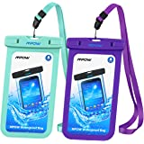 Mpow Universal Waterproof Case, IPX8 Waterproof Phone Case Dry Bag for iPhone X/8/8plus/7/7plus/6s/6/6s plus Samsung galaxy s8/s7 LG V20 Google Pixel HTC10 ( 2-Pack)