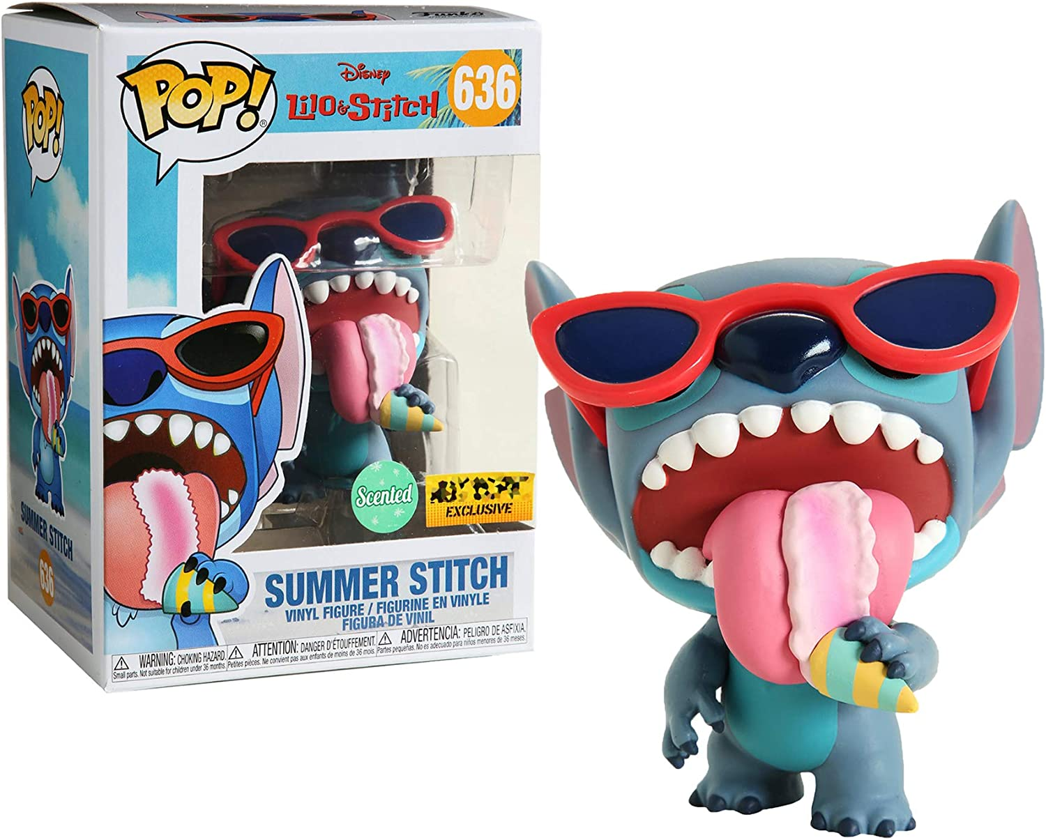 Funko POP! Disney: Lilo & Stitch - Summer Stitch [Scented] #636 Exclusive [Sold Out!]