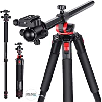Neewer 2-in-1 Camera Tripod Monopod with 360 Degree Rotatable Center Column and Ball Head QR Plate - 72.5 inches…