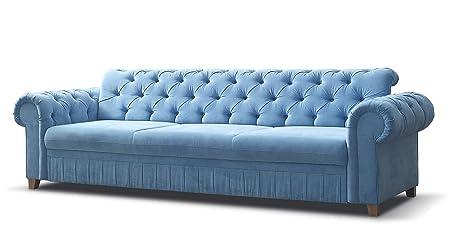 Mb Moebel Sofa Chesterfield 3 Sitzer Couch Im Englischen Stil Mit