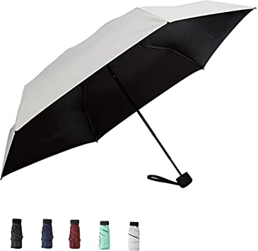 navigatee Mini Compact Sun Rain Travel Umbrella Lightweight Portable Umbrella with 95 UV Protection