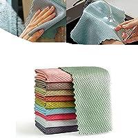 5/10 stks Glasveegdoeken Visschubben Designdoek Stofreinigingsdoek Water, Microfiber Polijstdoek, voor het reinigen van…