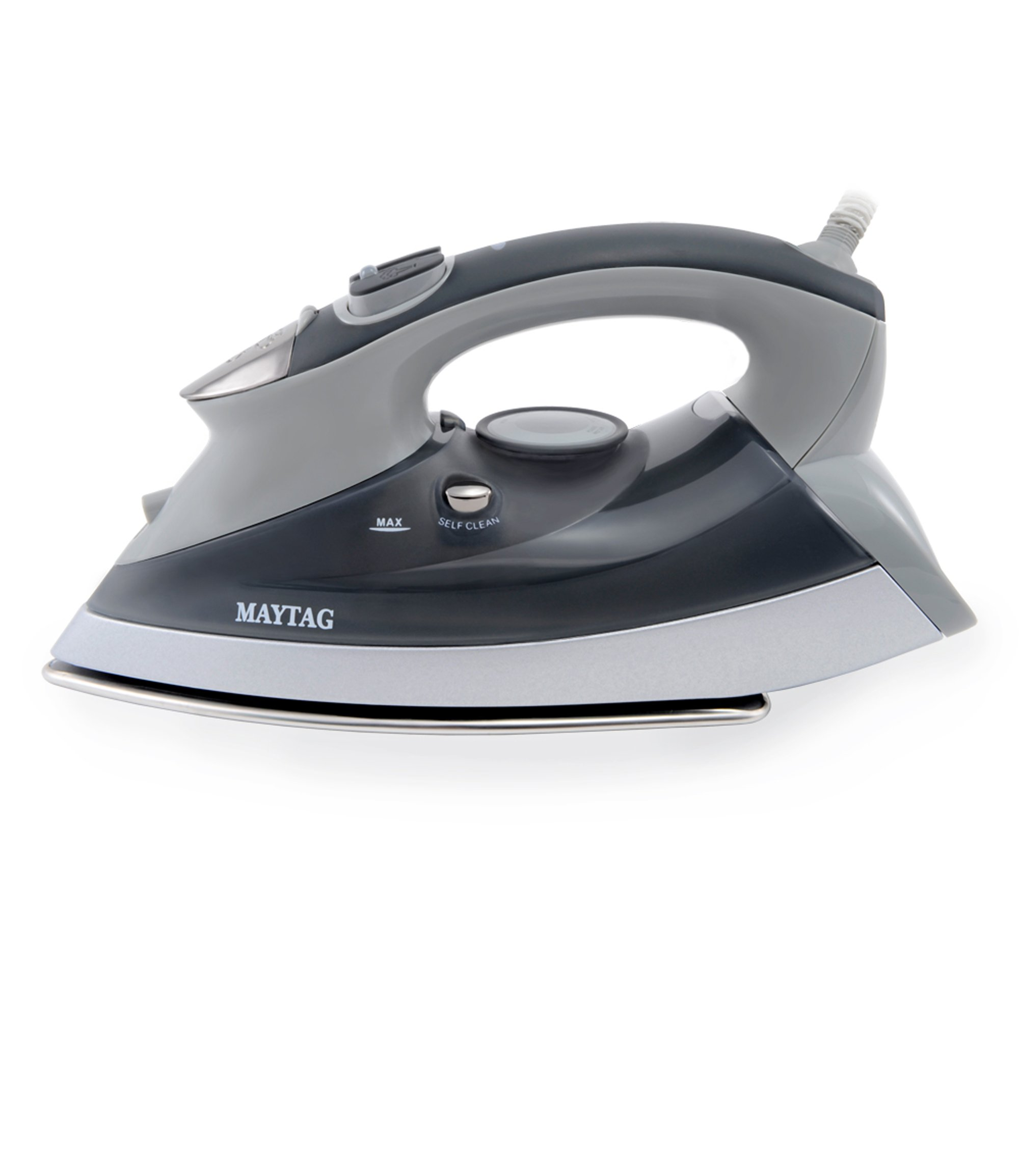 Maytag M400 Speed Heat Steam Iron & Vertical Steamer with Stainless Steel Sole Plate, Self Cleaning Function + Thermostat Dial by Maytag