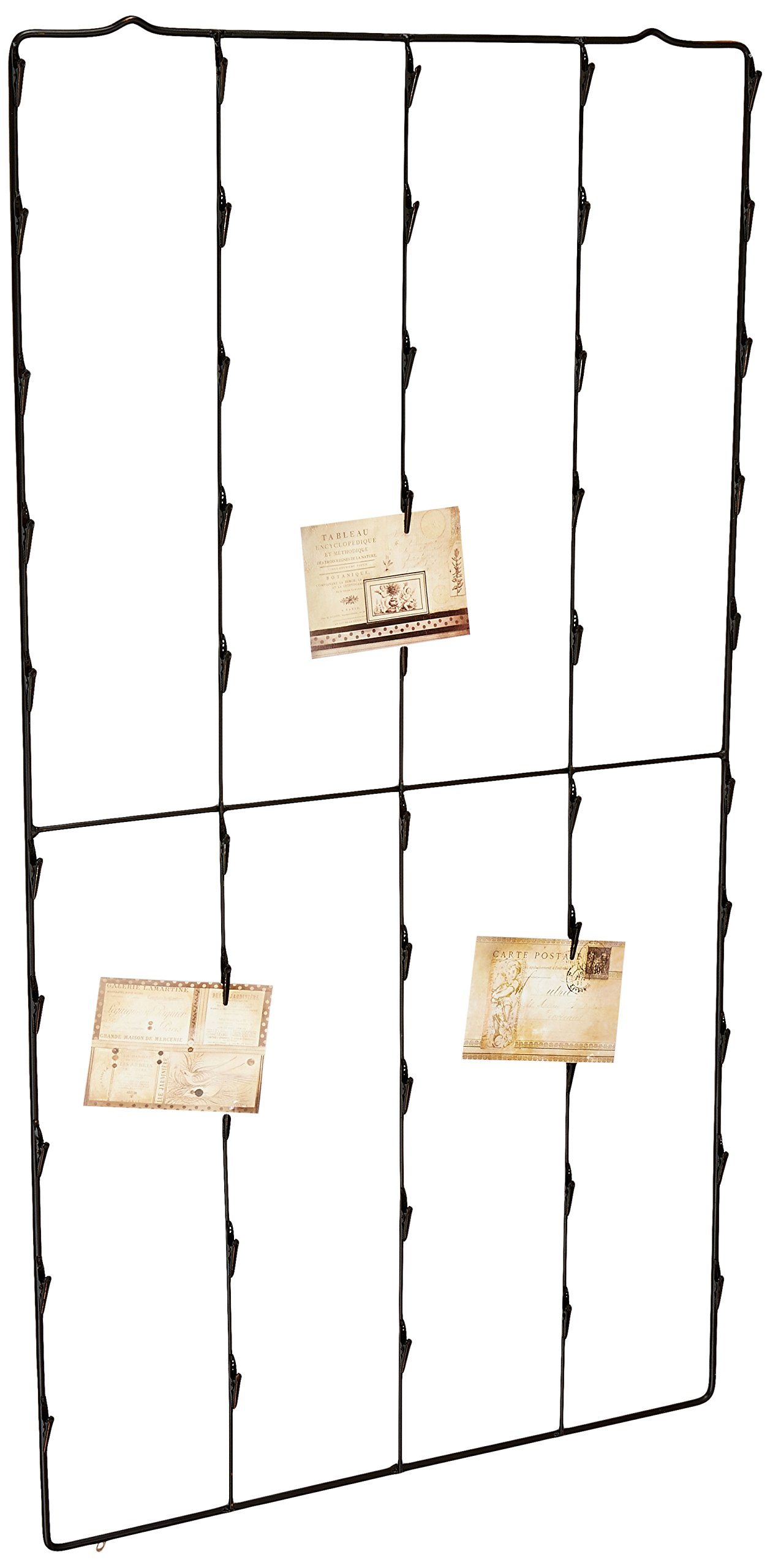Creative Co-op Metal Photo/Card Holder with 3 Postcards