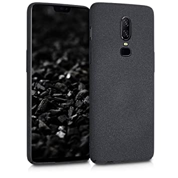 kwmobile Funda para OnePlus 6 - Carcasa [rígida] y [Antideslizante] para móvil - Cover en [Negro Mate]