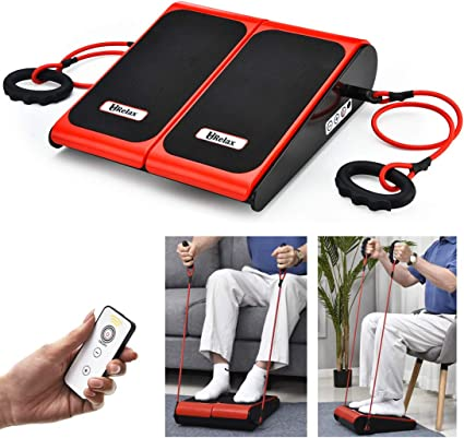Vibration In Foot >> Urelax Foot Calf Massager Vibration Plate Machine Vibration Fitness Workout Platform Home Training Equipment With Two Bands And Remote For Relaxing