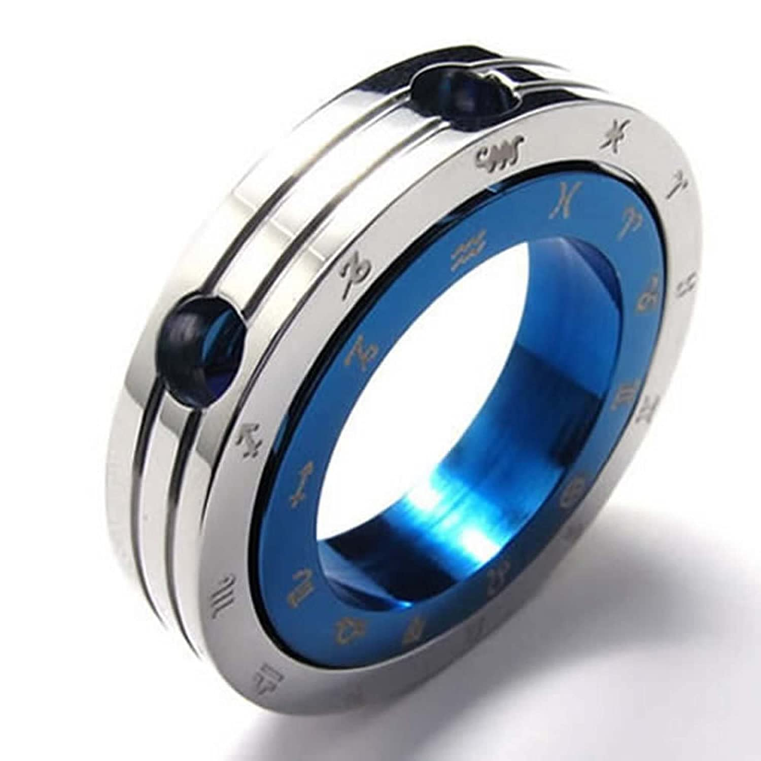 ANAZOZ Stainless Steel Blue Mens Womens Pendant Necklace Constellation 18-26 Link