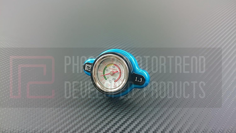 P2M High Pressure 1.3 Bar Radiator Gauge Cap Honda / Toyota Phase 2 Motortrend
